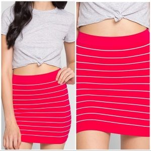 NWOT WET SEAL PLAY TIME STRIPE KNIT SKIRT OS